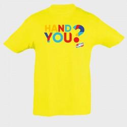 T-shirt Enfant JAUNE Hand you