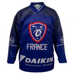 Maillot Hockey France officiel 2019 Standard Bleu PERSO