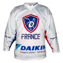 Maillot Hockey France officiel 2019 Standard Blanc PERSO