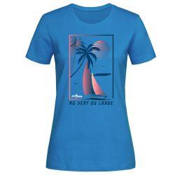 T-shirt Femme BLEU Federation Française de Voile Au Vent du Large