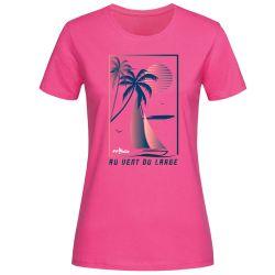 T-shirt Femme ROSE Federation Française de Voile Au Vent du Large