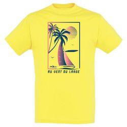 T-shirt Homme JAUNE Federation Française de Voile Au Vent du Large