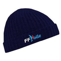 Bonnet Court MARINE Federation Française de Voile Logo