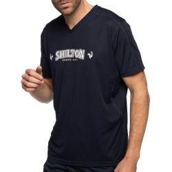 T-shirt Technique SHILTON sport col v NAVY