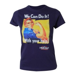 T-shirt Femme Mud Day We Can Do It