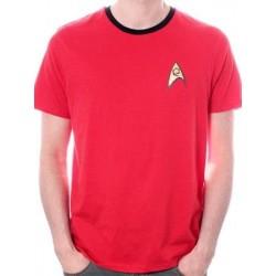 T-shirt STAR TREK UNIFORM rouge