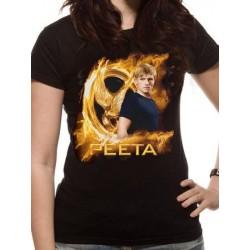 T-shirt femme THE HUNGER GAMES - Gold Fire Peeta
