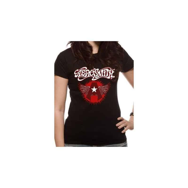 T-shirt femme AEROSMITH flying A