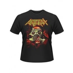 T-shirt ANTHRAX - gas mask skull