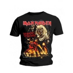 T-shirt Iron Maiden number-of-the-beast graphic