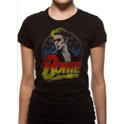 T-shirt David Bowie Smoking Femme