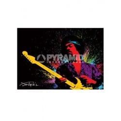 Poster geant Jimi Hendrix paint