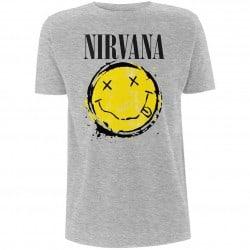 T-Shirt NIRVANA - SMILEY SPLAT