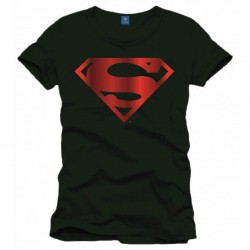T-shirt Superman - Logo métal rouge