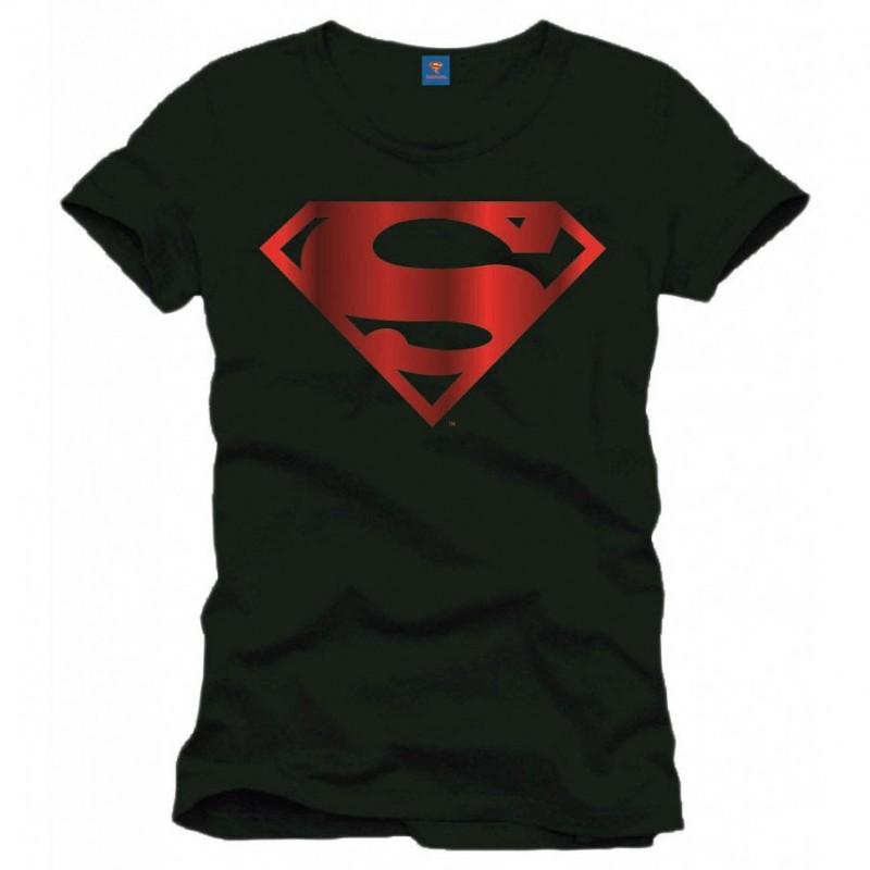 T-shirt Superman - Logo métal rouge