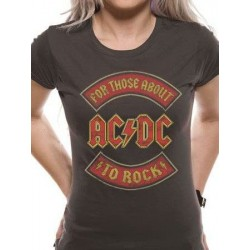 T-shirt femme ACDC About to rock