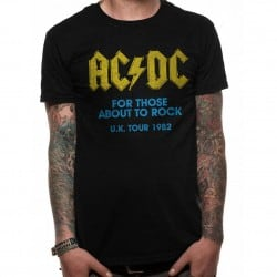 T-shirt ACDC Homme For Those About To Rock