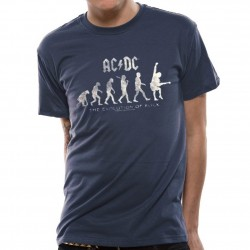 T-shirt ACDC Homme - Evolution Of Rock