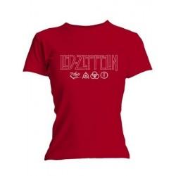 T-shirt femme Led Zeppelin Logo  et  Symbols