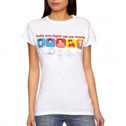 T-shirt Blanc logo Orange Europe 1