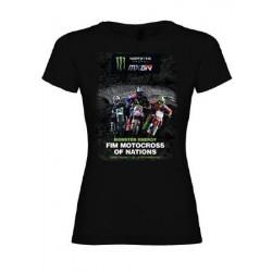 T-shirt motocross femme affiche MXoN 2015 - Ernée