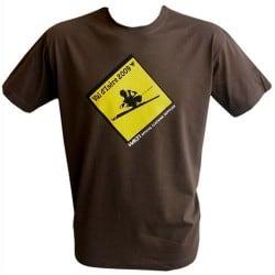 T-shirt Road Sign marron