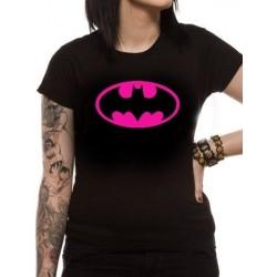 T-shirt femme Batman Block pink logo