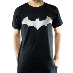 T-shirt Batman - Modern logo silver