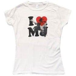 T-shirt femme Michael Jackson - I Love MJ