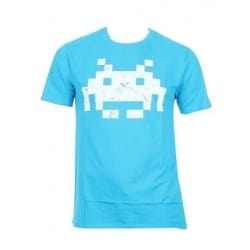 T-shirt Space Invaders logo turquoise