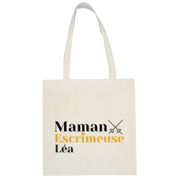 Sac shopping personnalisable Maman - Fleuret