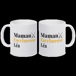 Mug personnalisable Maman - Fleuret