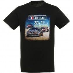 T-shirt affiche enfant Rallycross Lohéac 2019