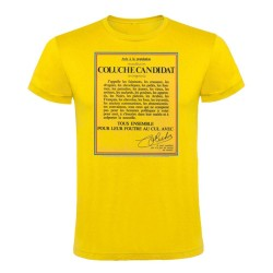 T-shirt candidature Coluche