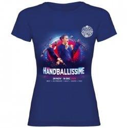 T-shirt femme Affiche Euro Handball Bleu