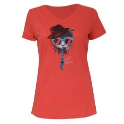 T-shirt femme chat lunettes Jazz in Marciac