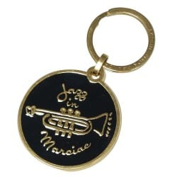 Porte-clés doré-noir Jazz in Marciac