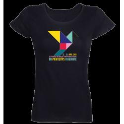 T-shirt noir femme Affiche Printemps de Bourges 2020