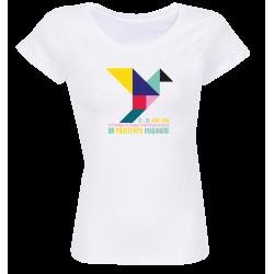 T-shirt blanc femme Affiche Printemps de Bourges 2020