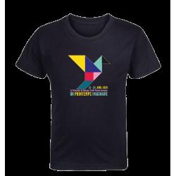 T-shirt noir enfant Affiche Printemps de Bourges 2020