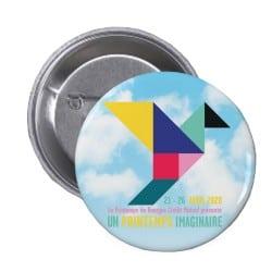 Badge bouton Affiche Printemps de Bourges 2020