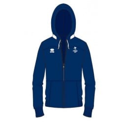 Sweat zippée capuche bleue equipe de france