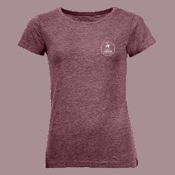 T-shirt femme bordeaux logo FFSNW