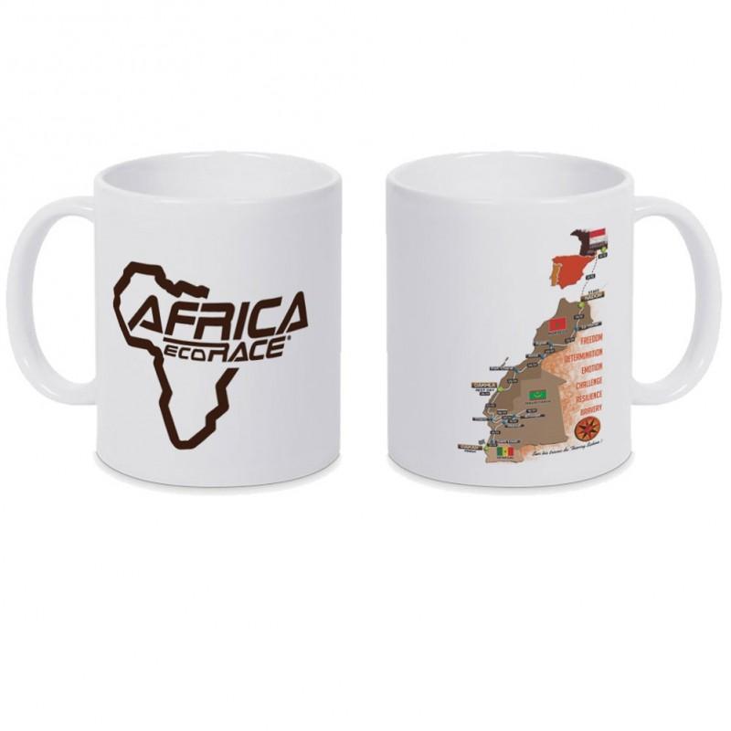 Mug Parcours Africa Race Blanc