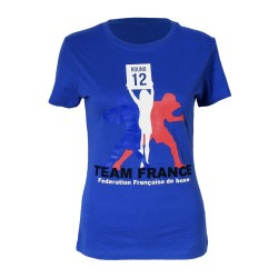 T-shirt femme supporter Equipe de France de Boxe