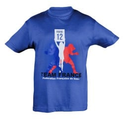 T-shirt enfant supporter Equipe de France de Boxe