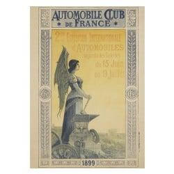 Affiche Vintage 1899 Mondial de l'Automobile