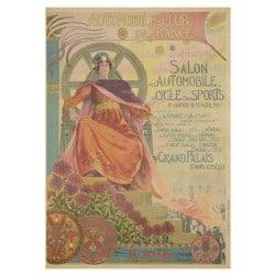 Affiche Vintage 1901 Janvier Mondial de l'Automobile
