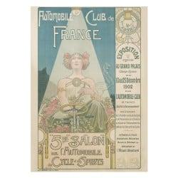 Affiche Vintage 1902 Mondial de l'Automobile