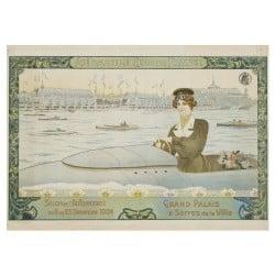 Affiche Vintage 1904 Mondial de l'Automobile